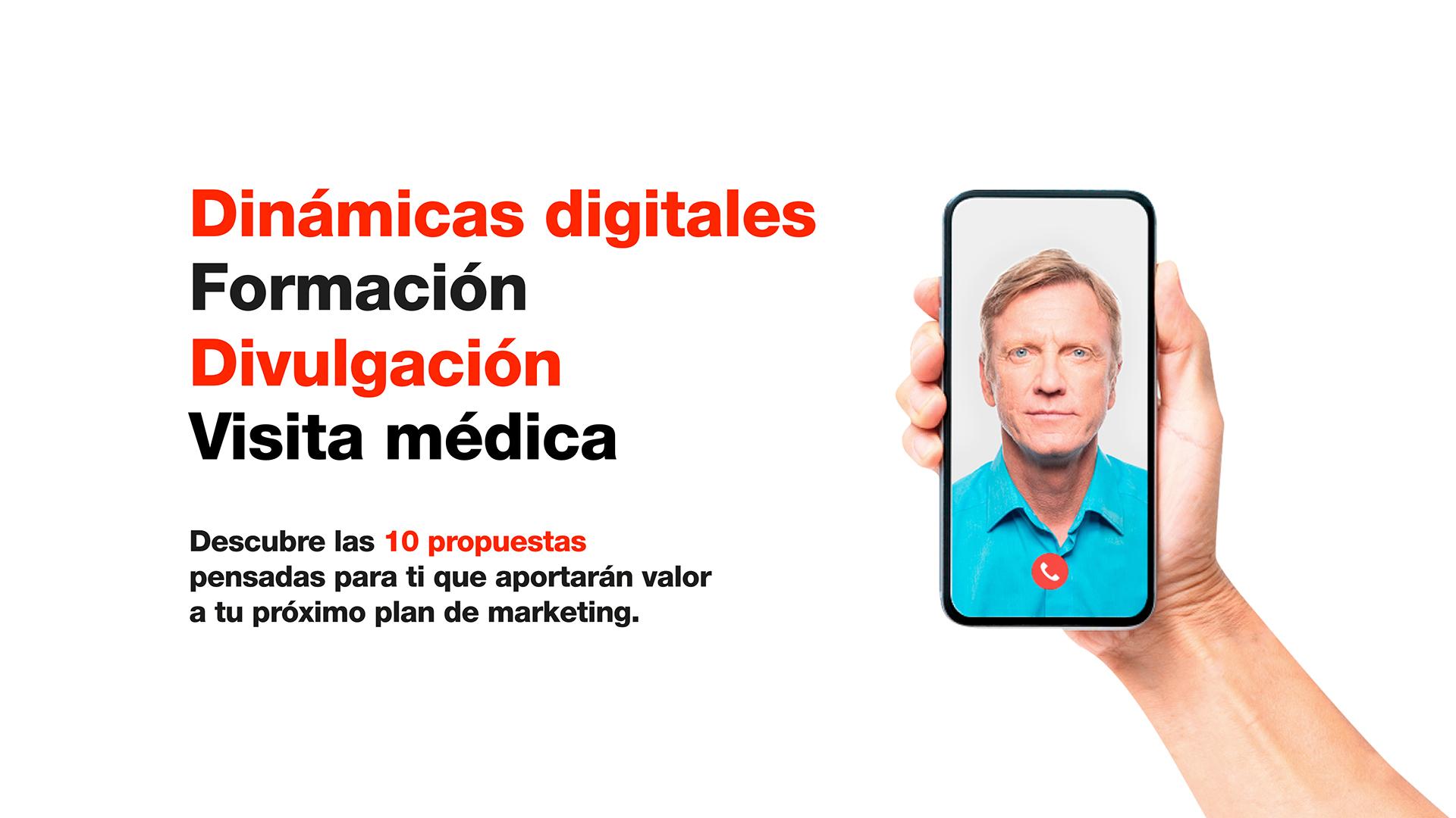 Dinámicas digitales. Formación. Divulgación. Visita médica.